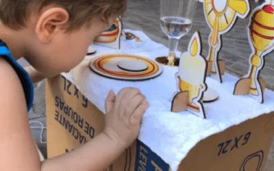 Francisco tiene solo 4 años y demuestra su fervor por la eucaristía.